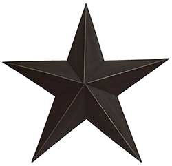 Black Barn Star, 18 inch