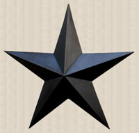 The Hearthside Collection Primitive Wall Star, 24 inch - Black