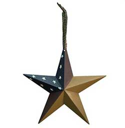 Aged Patriotic Barn Star, 8 inch