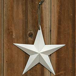 Distressed White Barn Star, 8 inch