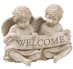 Cherubs Welcome Figure