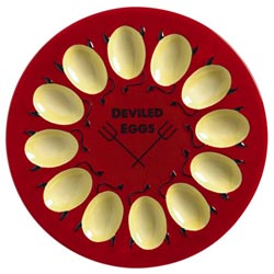 Backyard BBQ Deviled Egg Plate
