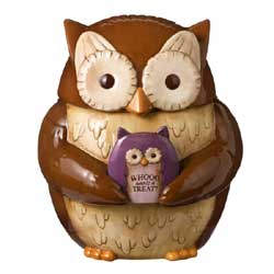 Crimson Hollow Owl Cookie Jar