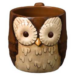 Crimson Hollow Owl Mug
