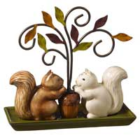 Crimson Hollow Squirrel Salt and Pepper Shaker Set