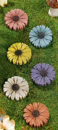 Mini Flower Stepping Stone (set of 6)