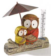 Sitting Owl Rain Gauge
