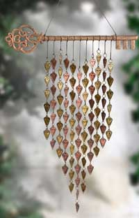 Key & Heart Wind Chime