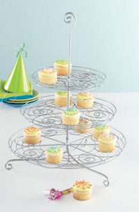 Cupcake Party Three Tier Stand