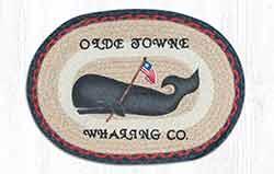 Folk Art Whale Braided Placemat