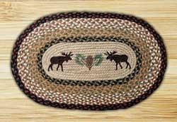 Moose & Pinecone Braided Jute Placemat
