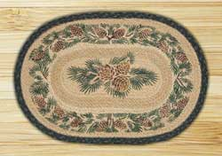 Pinecone Braided Jute Placemat