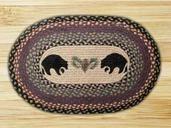 Black Bears Braided Jute Placemat