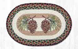 Pinecone Braided Placemat - Oval