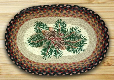 Pine Redberry Braided Jute Placemat