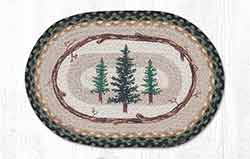 Tall Timbers Braided Placemat - Oval