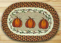 Earth Rugs Harvest Pumpkin Braided Placemat