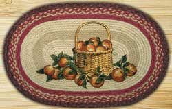 Apple Basket Braided Jute Placemat