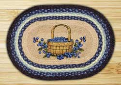 Earth Rugs Blueberry Basket Braided Placemat