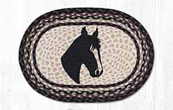Horse Portrait Braided Placemat - Oval