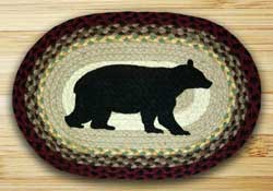 Earth Rugs Cabin Bear Braided Placemat