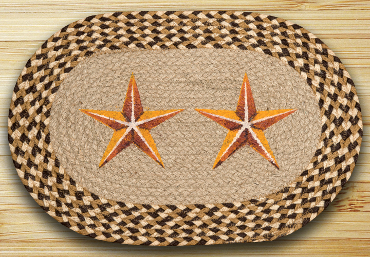 Golden Barn Star Braided Placemat