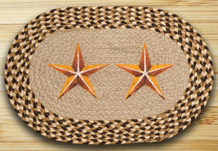 Golden Barn Star Braided Placemat