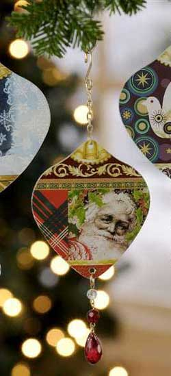 Bella Boutique Santa Ornament