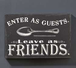 Enter as Guests Wall Sign
