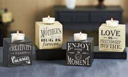 Living Quotes Single Block Candle Holder