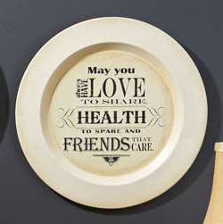 May You Have Love Plate