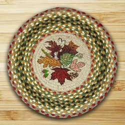 Autumn Leaves Braided Jute Chair Pad