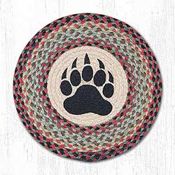 Bear Paw Braided Chair Pad