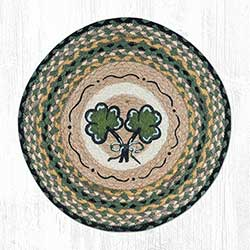 Shamrock Braided Jute Chair Pad