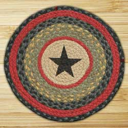 Star Printed Chair Pad (Black, Red, Olive)
