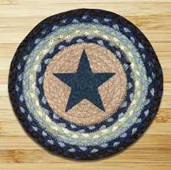 Blue Star Printed Chair Pad