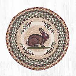 Vintage Rabbit Round Braided Chair Pad