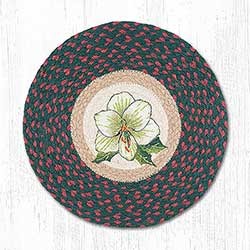 Christmas in Bloom Braided Chair Pad