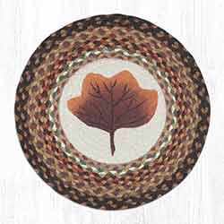 Autumn Leaf Round Braided Chair Pad