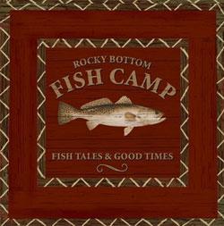Fish Camp Paper Luncheon Napkin