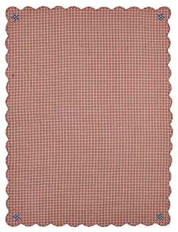 Independence Scalloped Table Cloth - 60 x 80 inch