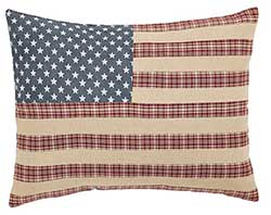 Independence Flag Pillow Cover - 14 x 18 inch