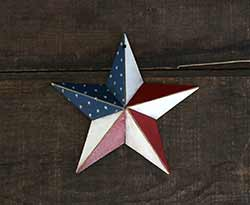 Americana Hand-Painted Barn Star - 5 inch