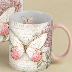 Carte Postale Pink Butterfly Boxed Mug