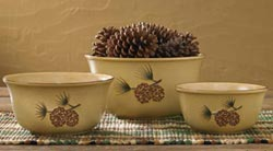 Pine Bluff Mixing Bowls (Set of 3)