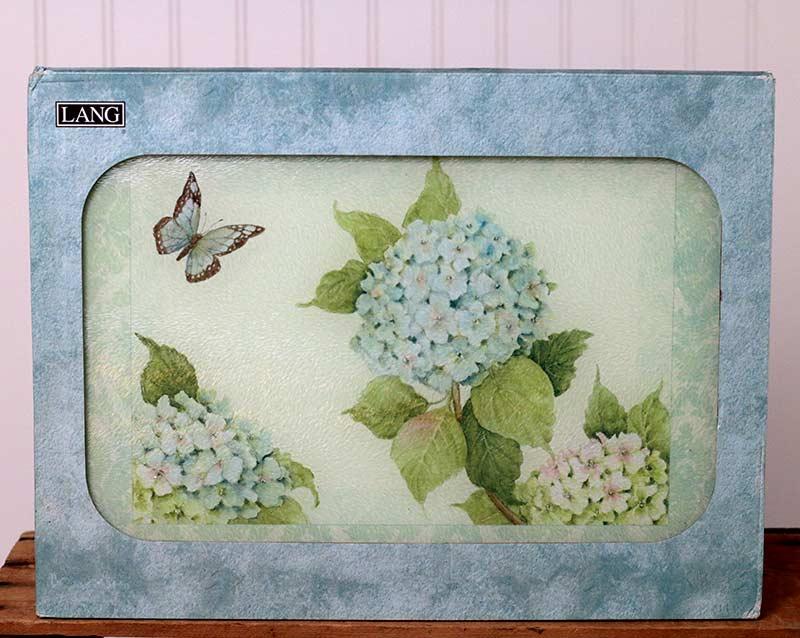 Blue Hydrangea Cutting Board