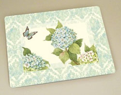 Blue Hydrangea Cutting Board
