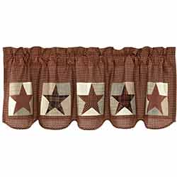 Abilene Patch Block and Star Valance - 60 inch