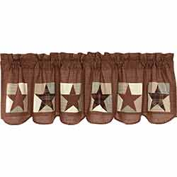Abilene Patch Block and Star Valance - 72 inch