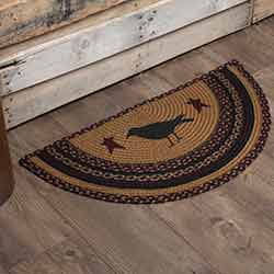 Heritage Farms Crow Half Circle Rug